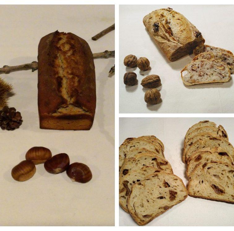 Pains à la châtaigne, figues, noix Au Petit Fournil de Valérie 66